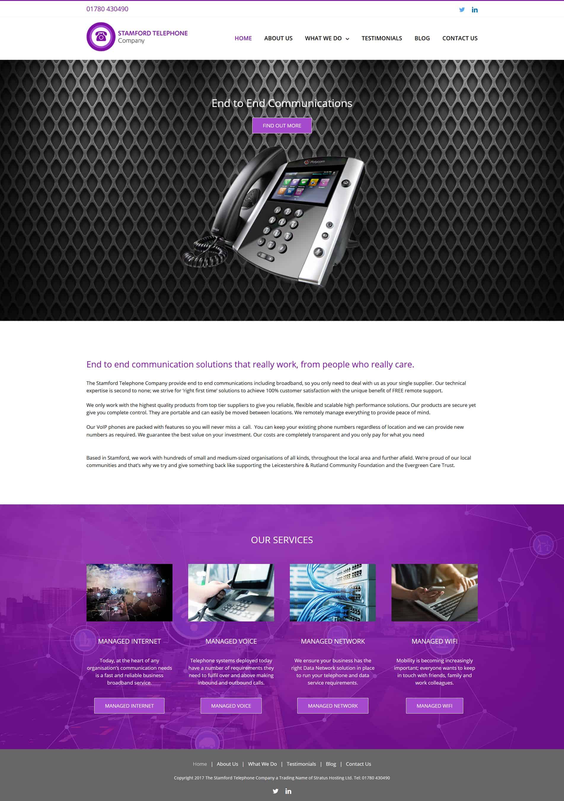 Telecoms Company Website Design