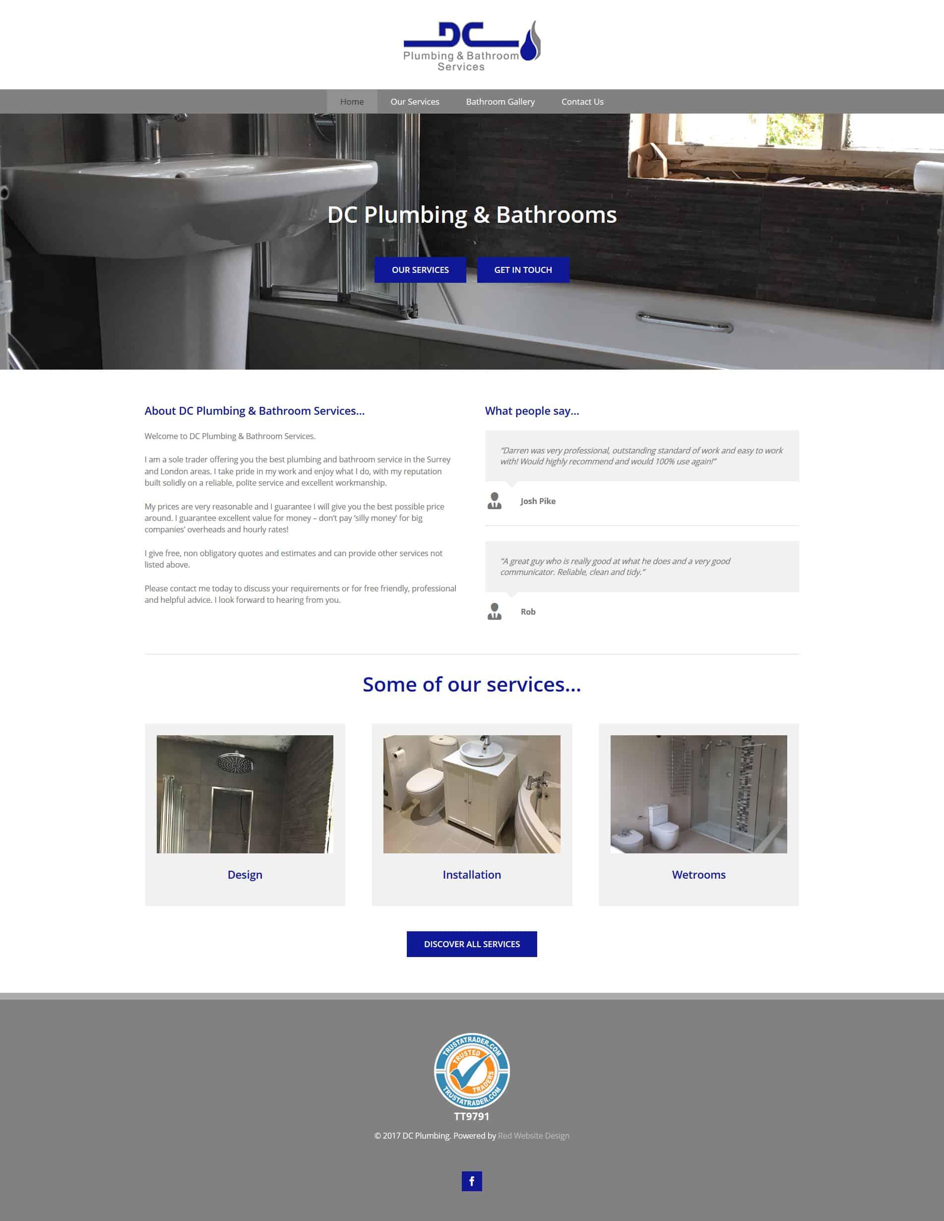 Plumbing & Bathroom Installer Website Design