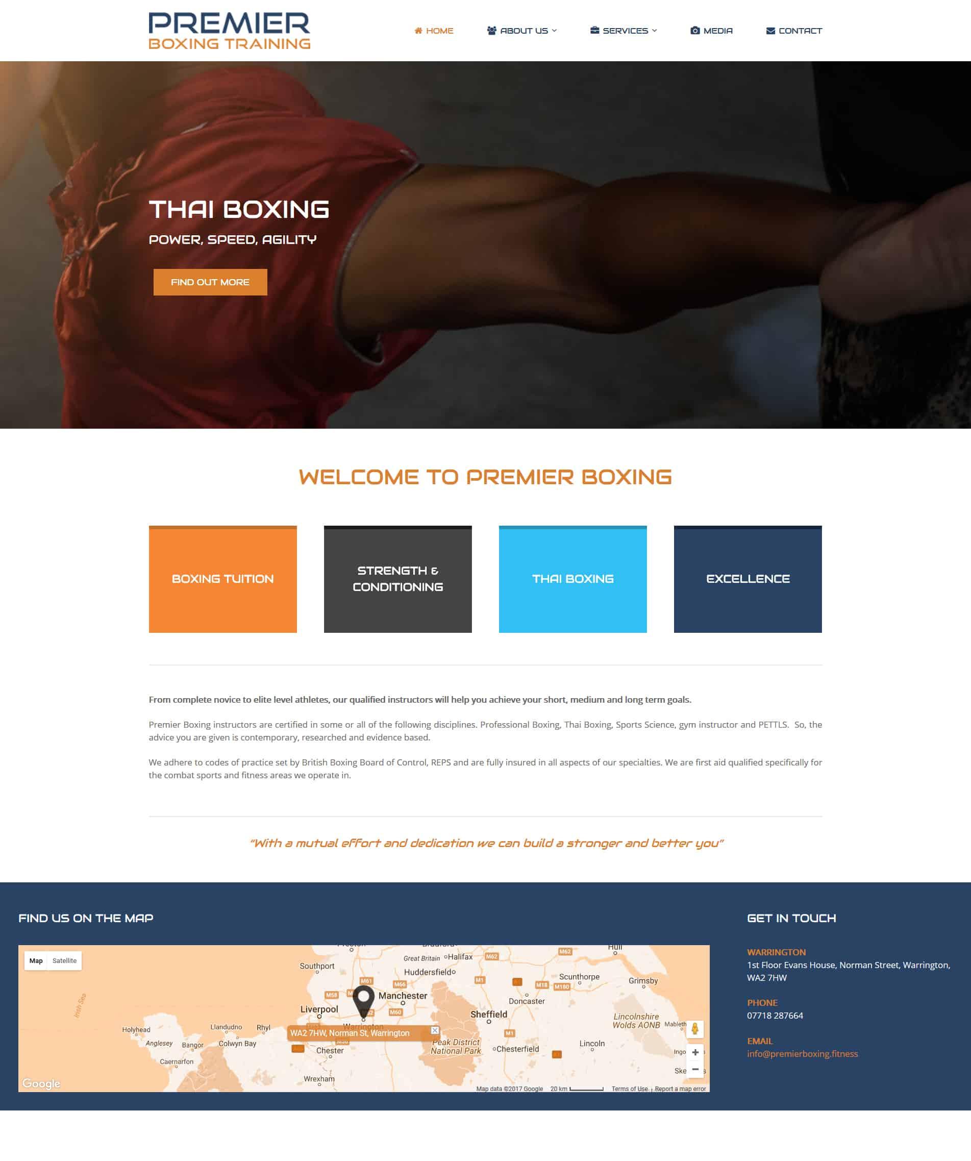 Boxing & Fitness Training Website Design