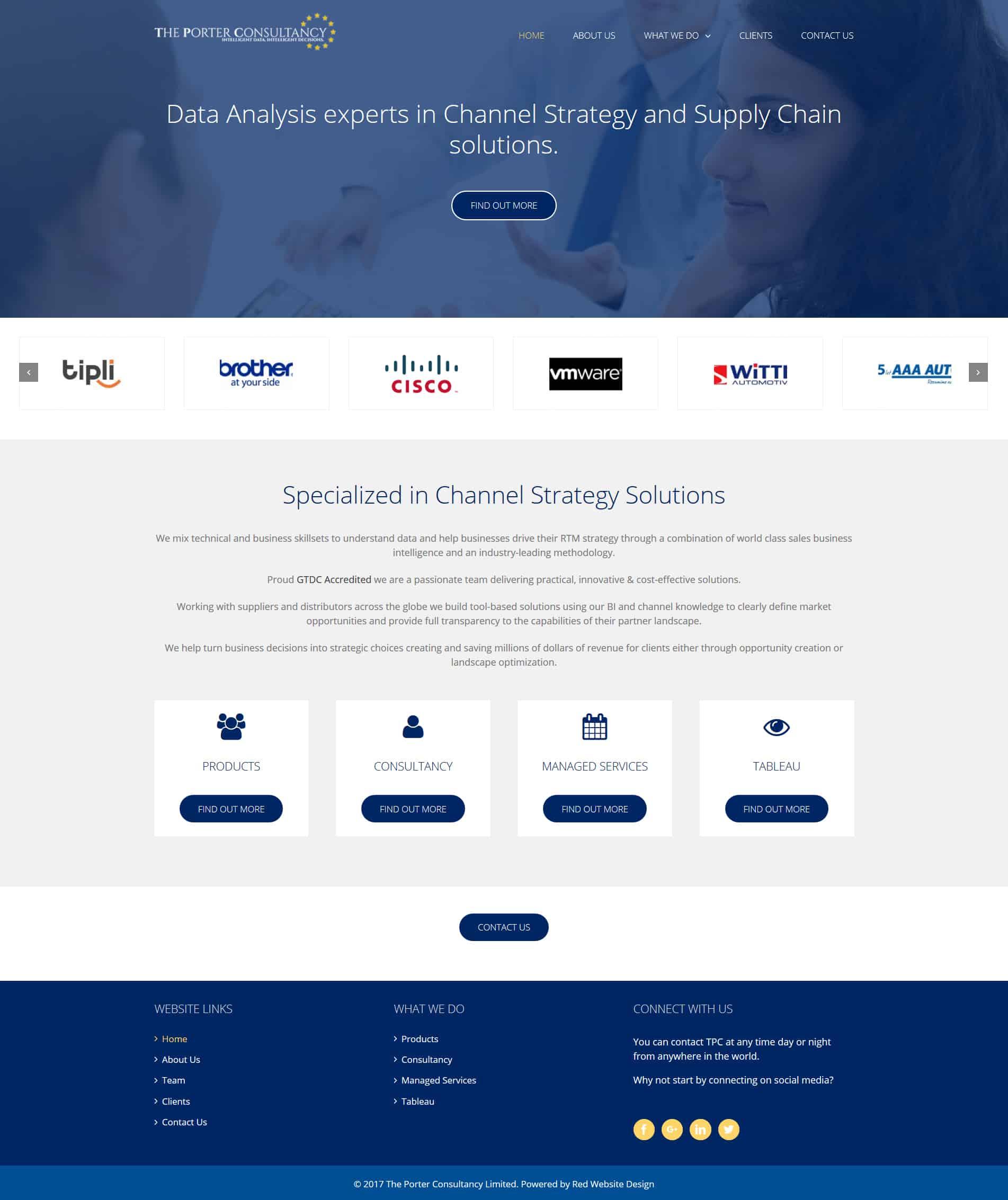 Data Analytics Website Design