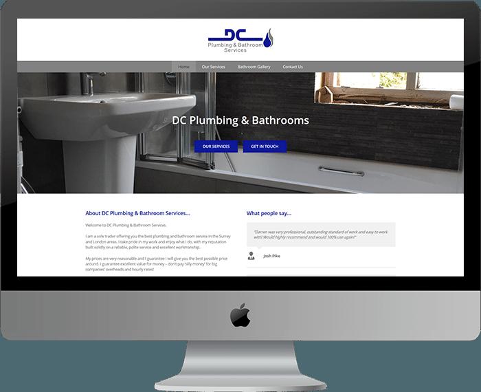 Plumbing Bathroom Installer Website Design