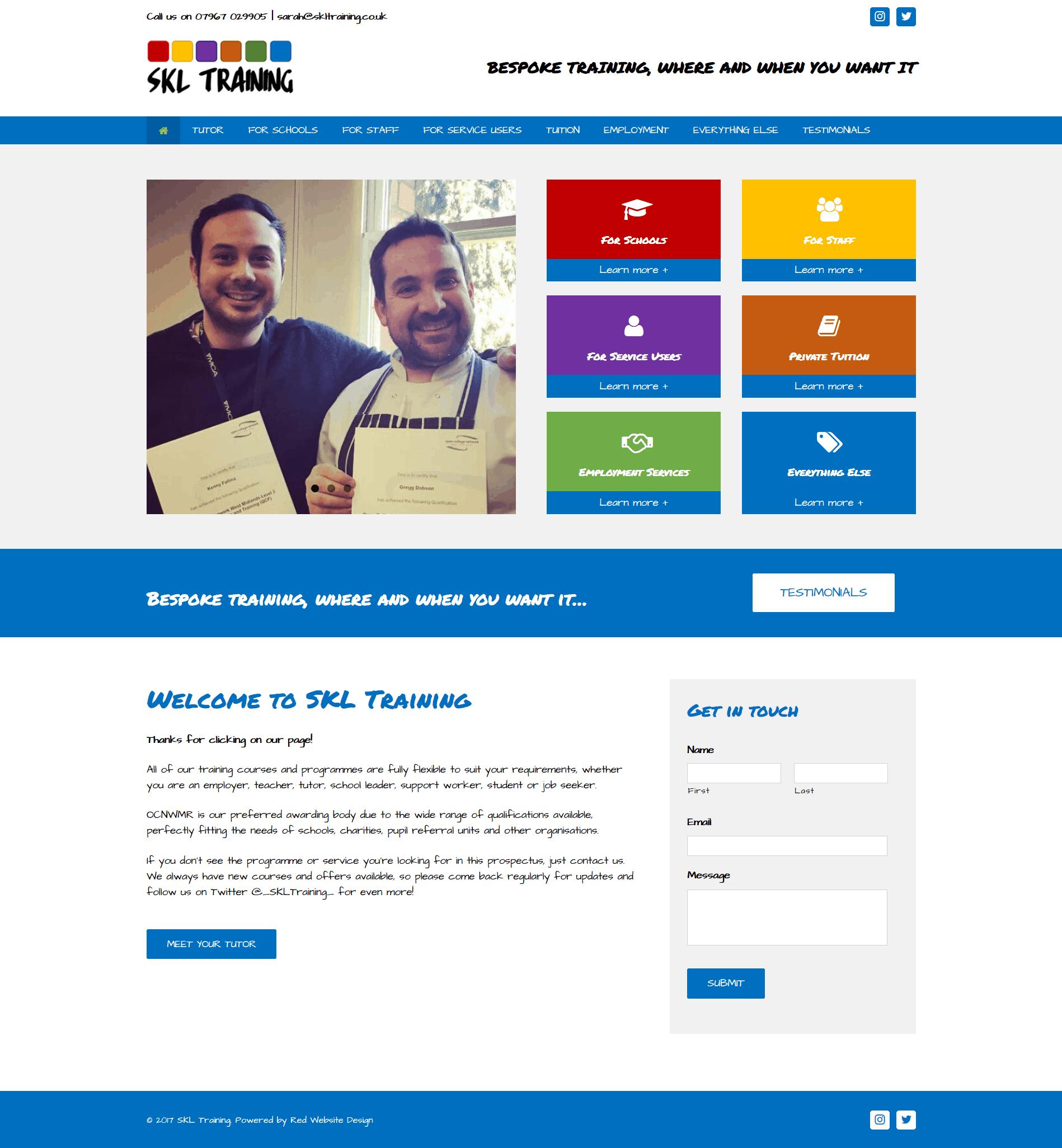 Home Design Websites: Training Company Website Design