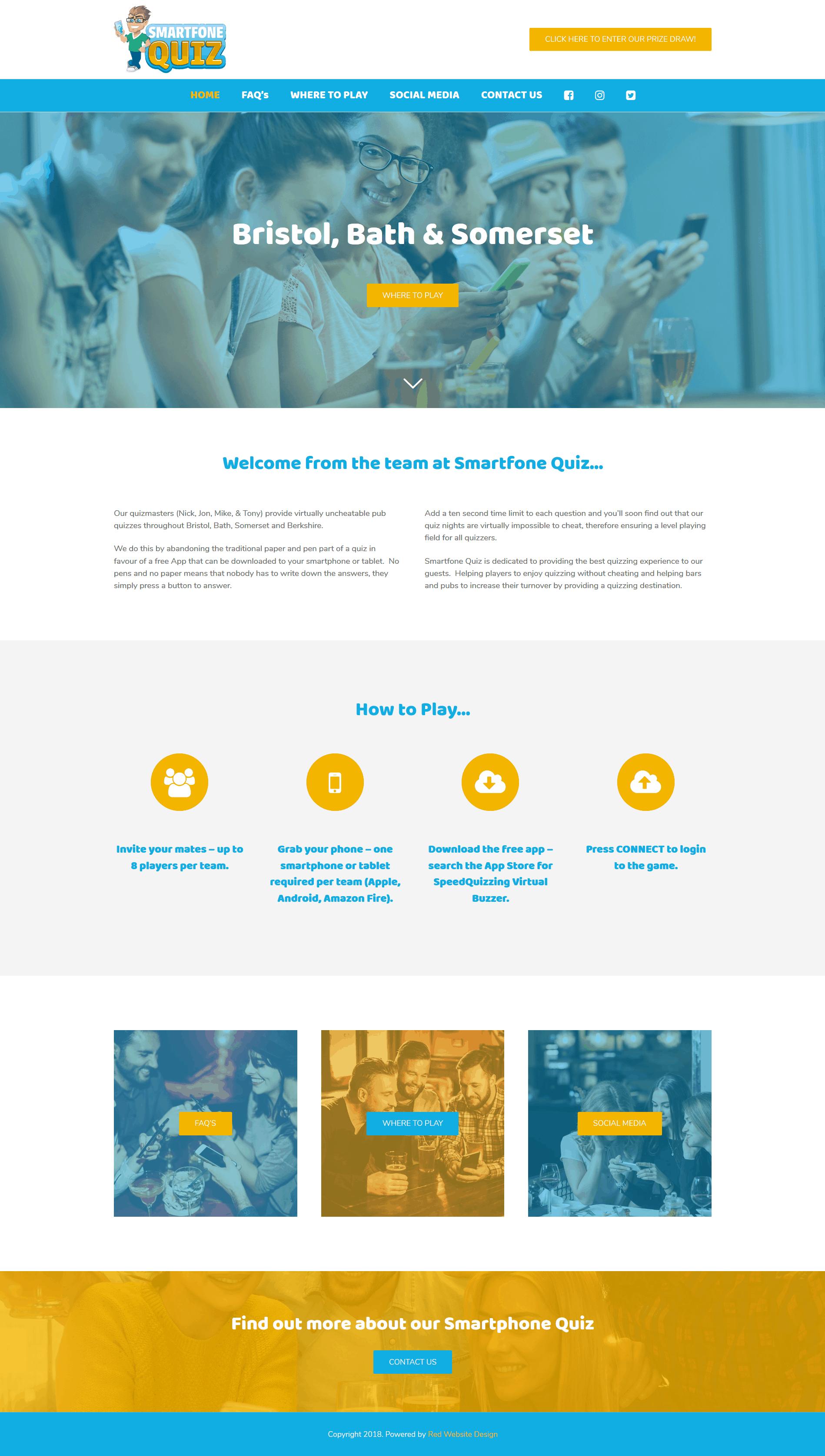 Pub restaurant website design