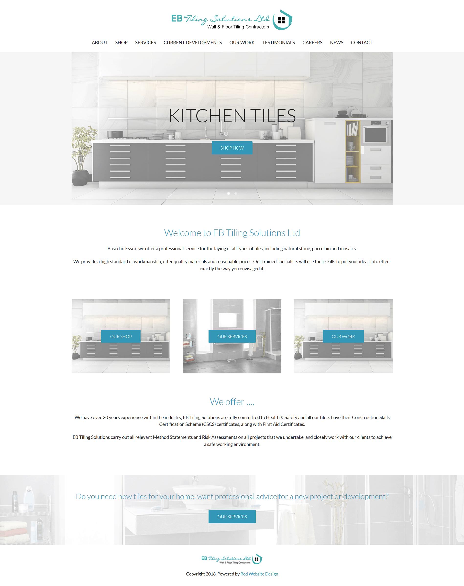 Kitchen Bathroom Tiling Website Design