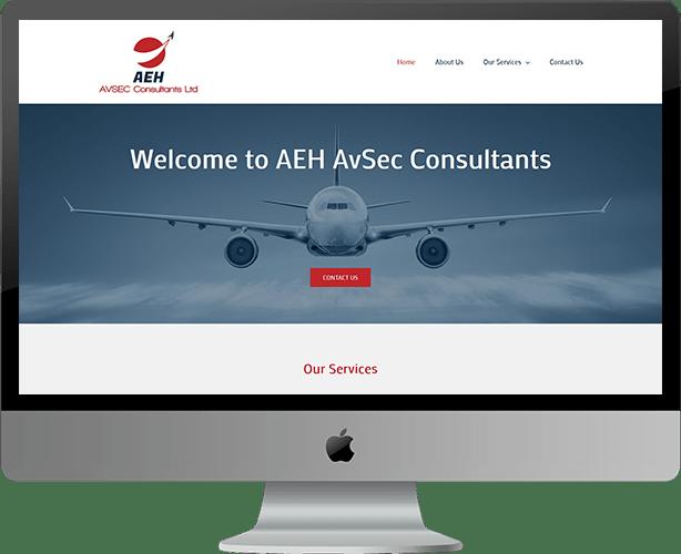 Web Design for AEH AvSec Consultants