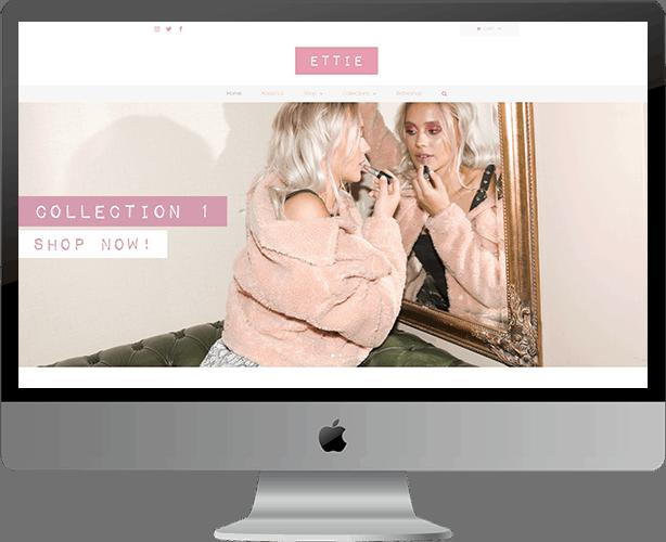 Website Design for Ettie Shop