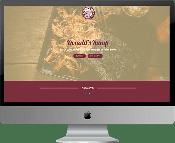 Web Design for Donald's Rump