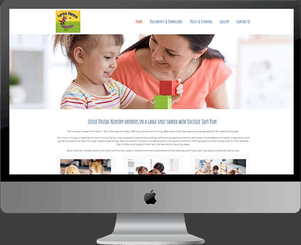 Web Design for Little Druids Nursery