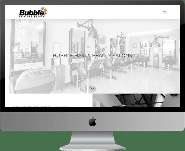 Web design for Bubble Hair & Beauty
