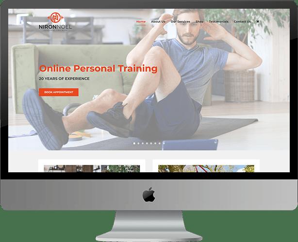Web design for Niron Noel Personal Training