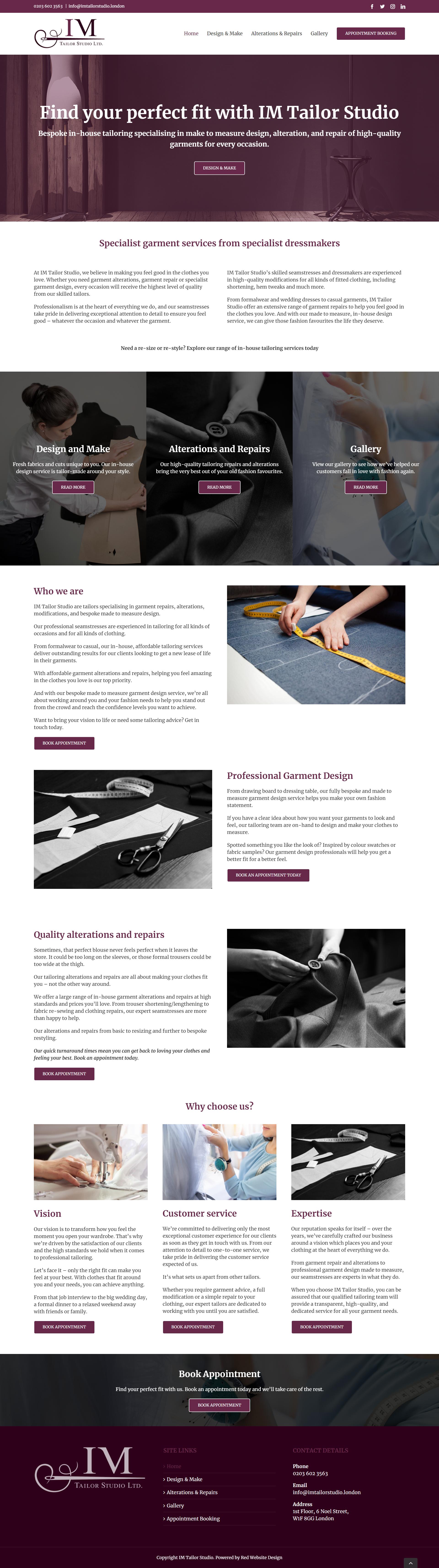 Web Design Savile Row